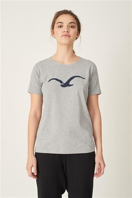 Cleptomanicx Women Möwe Heather Gray T-Shirt