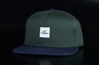 Cleptomanicx Badger 3 Bottle Green 6 Panel Cap