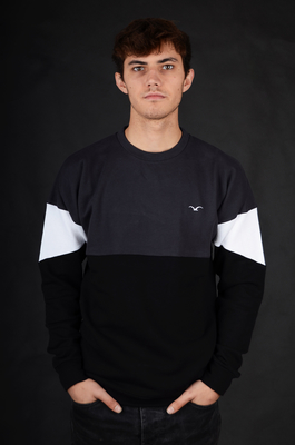 Cleptomanicx Drop 91 Phantom Black Sweatshirt