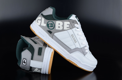 Globe Tilt White Grey Green Sneaker
