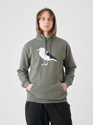 Cleptomanicx Gull 3 Heather Dusty Olive Hoodie