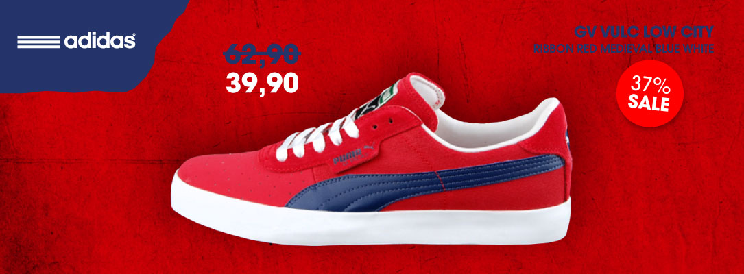 Puma GV Vulc Low City Ribbon Red Medieval Blu