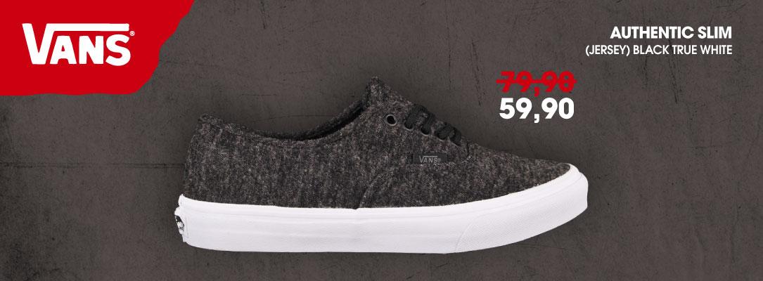 Vans Authentic Slim (Jersey) Black True White